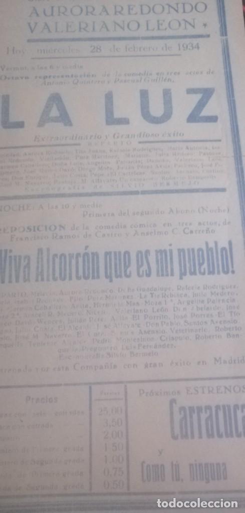 Carteles Espectáculos: Cartel teatro Cervantes años 1934 - Foto 2 - 201914697