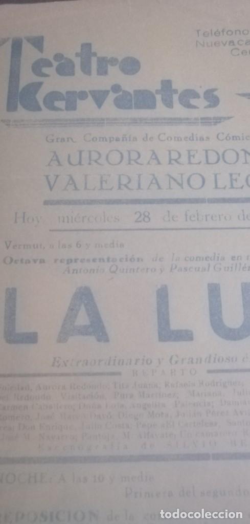 Carteles Espectáculos: Cartel teatro Cervantes años 1934 - Foto 3 - 201914697