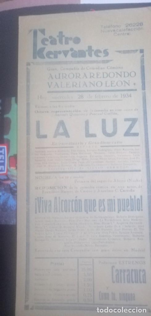 Carteles Espectáculos: Cartel teatro Cervantes años 1934 - Foto 4 - 201914697
