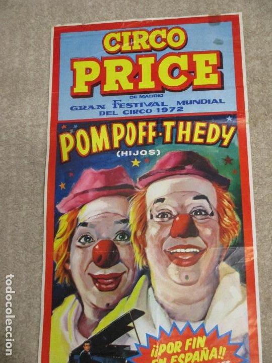CARTEL CIRCO PRICE, POMPOFF Y THEDY HIJOS FESTIVAL MUNDIAL DEL CIRCO 1972, SANTANDER 26,5X63,5 CM (Coleccionismo - Carteles Gran Formato - Carteles Circo, Magia y Espectáculos)