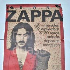 Carteles Espectáculos: POSTER FRANK ZAPPA ORIGINAL 1984 GRAN FORMATO. Lote 205085592