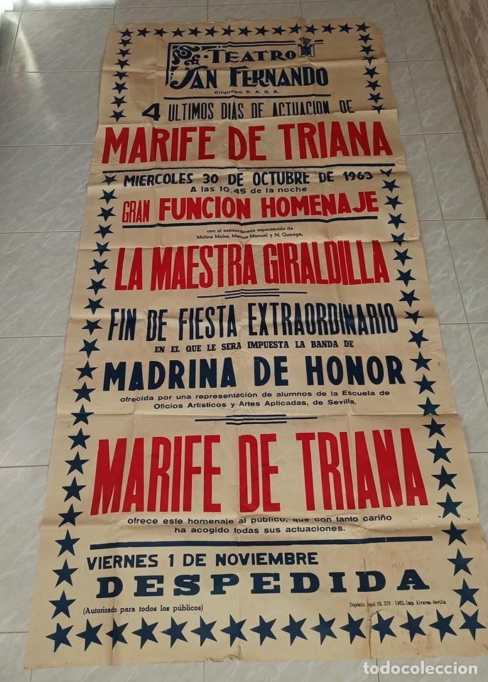 TEATRO SAN FERNANDO MARIFE DE TRIANA (Coleccionismo - Carteles Gran Formato - Carteles Circo, Magia y Espectáculos)