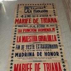 Carteles Espectáculos: TEATRO SAN FERNANDO MARIFE DE TRIANA. Lote 205850120