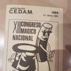 Carteles Espectáculos: REVISTA DE MAGIA DEL CEDAM AÑO 84 ESPECIAL CONGRESO DE LOGROÑO. Lote 207248776