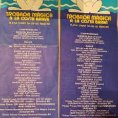 Carteles Espectáculos: MAGIA IV TROBADA MÀGICA DE PLATJA D'ARO 1985 RAREZA. Lote 207451478