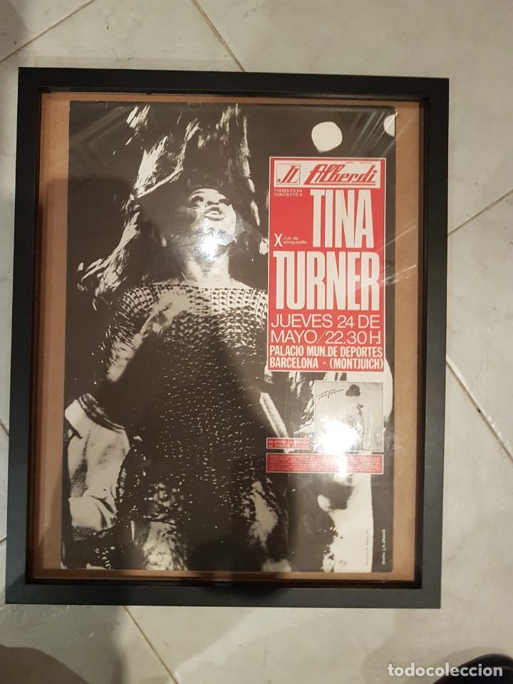 CARTEL ORIGINAL TINA TURNER 1979 BARCELONA (Coleccionismo - Carteles Gran Formato - Carteles Circo, Magia y Espectáculos)