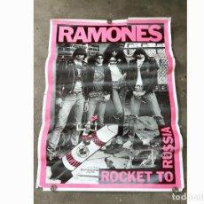 Carteles Espectáculos: POSTER O CARTEL DEL NUEVO DISCO DE LOS RAMONES ROCKET TO RUSSIA. 1978 - 64 X 89 CMS. Lote 209194217