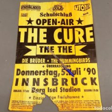 Carteles Espectáculos: CARTEL O POSTER DEL CONCIERTO DE THE CURE - OPE AIR - ALEMNIA JULIO 1990 CONCERT - INSBRUCK. Lote 209205160