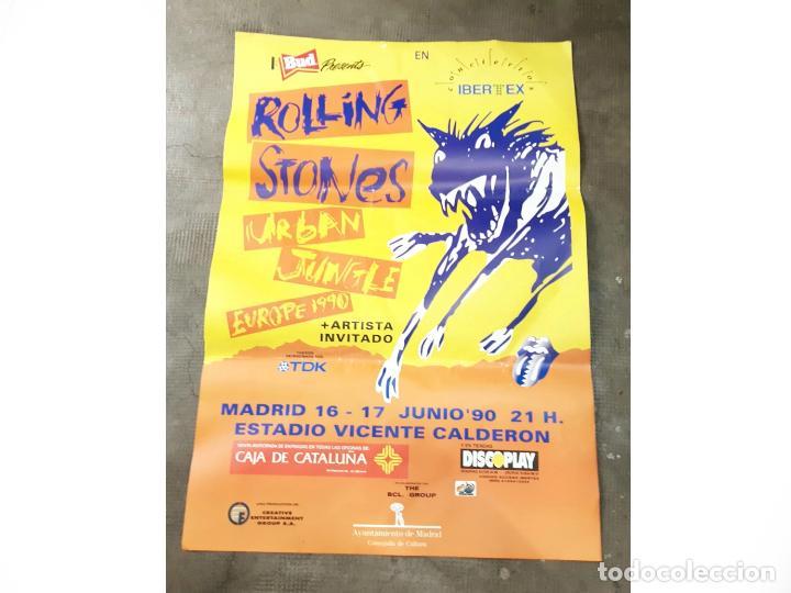 CARTEL O POSTER CONCIERTO ROLLING STONES URBAN JUNGLE EUROPE 1990. VICENTE CALDERÓN. MADRID CONCERT (Coleccionismo - Carteles Gran Formato - Carteles Circo, Magia y Espectáculos)