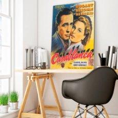 Carteles Espectáculos: CASA BLANCA 1942. BOGART E INGRID BERGMAN. CARTEL CINE GRAN FORMATO 88X68CM.. Lote 212397868