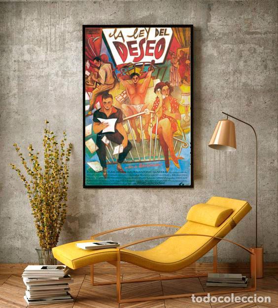 LA LEY DEL DESEO 1987. PEDRO ALMODÓVAR. CARTEL CINE GRAN TAMAÑO 100X66CM (Coleccionismo - Carteles Gran Formato - Carteles Circo, Magia y Espectáculos)
