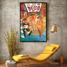 Carteles Espectáculos: LA LEY DEL DESEO 1987. PEDRO ALMODÓVAR. CARTEL CINE GRAN TAMAÑO 100X66CM. Lote 212398930