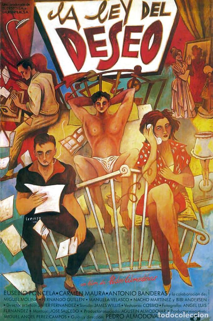 Carteles Espectáculos: LA LEY DEL DESEO 1987. PEDRO ALMODÓVAR. CARTEL CINE GRAN TAMAÑO 100x66cm - Foto 3 - 212398930