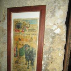 Carteles Espectáculos: ORIGINAL AUTENTICO CARTEL TOROS ALICANTE MAYO 1947 ROVIRA DIAMANTINO PEPIN MARTIN. Lote 213140025