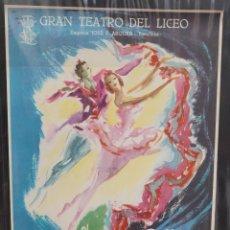 Carteles Espectáculos: CARTEL - BALLET DEL MARQUÉS DE CUEVAS - 1958 - TEATRO LICEO - 53,3 X 34,9 CM.. Lote 215116698