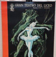 Carteles Espectáculos: CARTEL - BALLET DEL MARQUÉS DE CUEVAS - 1956- TEATRO LICEO - 53,3 X 34,9 CM.. Lote 215117308
