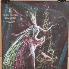 Carteles Espectáculos: CARTEL - BALLET DEL MARQUÉS DE CUEVAS - 1961- TEATRO LICEO - 53 X 35CM.. Lote 215124586