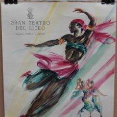 Carteles Espectáculos: CARTEL - FESTIVAL BALLET - 1954 - GRAN TEATRO LICEO - PERE CLAPERA - 50 X 35,7 CM.. Lote 215124840