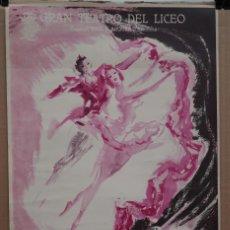 Carteles Espectáculos: CARTEL - BALLET DEL MARQUÉS DE CUEVAS - 1958 - TEATRO LICEO - 53 X 35CM.. Lote 215195380