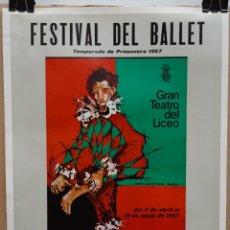 Carteles Espectáculos: CARTEL - FESTIVAL DEL BALLET - PRIMAVERA 1967 - GRAN TEATRO DEL LICEO - 49 X 36 CM.. Lote 215201123
