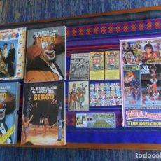 Carteles Espectáculos: GRAN LOTE EL CIRCO POSTAL MIKEL Y KILLO PAYASOS PARODISTAS MUSICALES CARTEL CROMOS INVITACIONES...... Lote 216755830