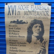 Carteles Espectáculos: ANTIGUO CARTEL DE FLAMENCO. XVI NOCHE FLAMENCA DE MONTEMAYOR 2001. M 44X62 CM. Lote 217372166