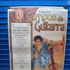 Carteles Espectáculos: ANTIGUO CARTEL DE FLAMENCO. I CONCURSO DE GUITARRA FLAMENCA DE CORDOBA 2001. M 48X68 CM. Lote 217372642