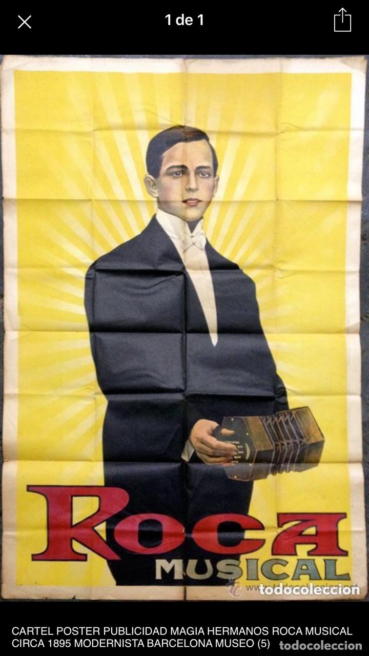 CARTEL POSTER PUBLICIDAD MAGIA HERMANOS ROCA MUSICAL MODERNISTA 1895 BARCELONA DE MUSEO TEATRO (Coleccionismo - Carteles Gran Formato - Carteles Circo, Magia y Espectáculos)