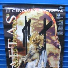 Carteles Espectáculos: CARTEL FLAMENCO. III CERTAMEN NACIONAL DE SAETAS DE CORDOBA1999. M 49X67 CM. Lote 218581870
