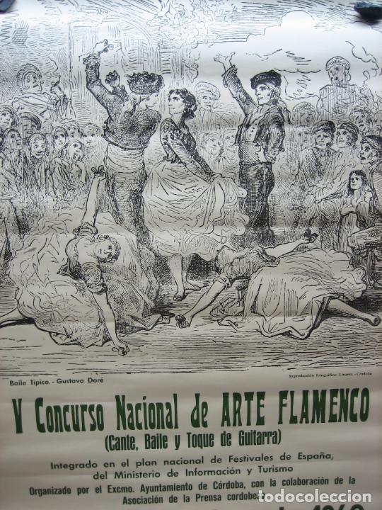 Carteles Espectáculos: Cartel Flamenco. II certamen nacional de Arte flamenco de Cordoba 1968 . M 52x70 cm - Foto 2 - 218583210