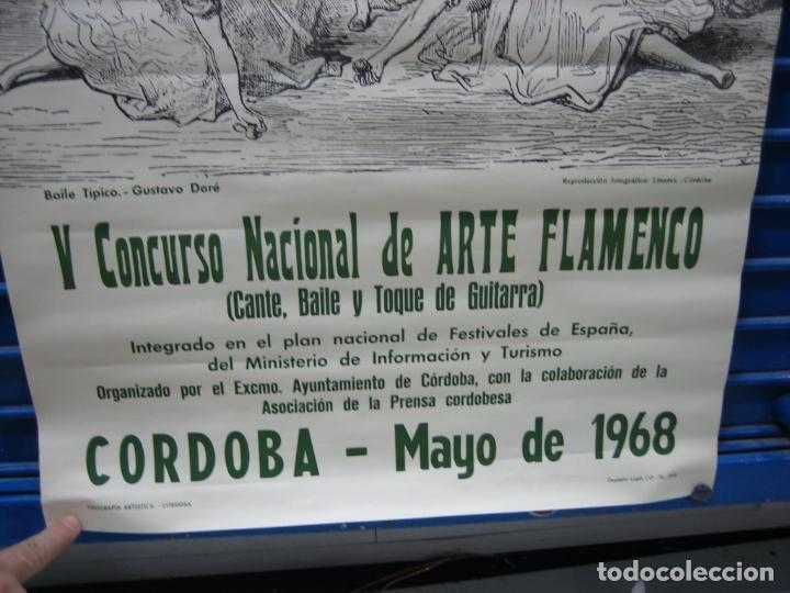 Carteles Espectáculos: Cartel Flamenco. II certamen nacional de Arte flamenco de Cordoba 1968 . M 52x70 cm - Foto 3 - 218583210