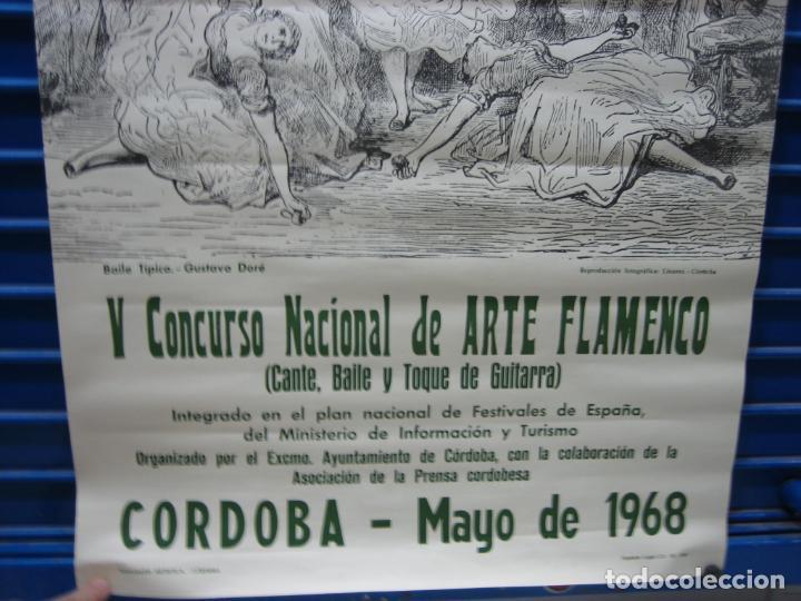 Carteles Espectáculos: Cartel Flamenco. II certamen nacional de Arte flamenco de Cordoba 1968 . M 52x70 cm - Foto 4 - 218583210