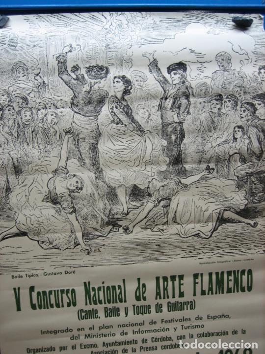 Carteles Espectáculos: Cartel Flamenco. II certamen nacional de Arte flamenco de Cordoba 1968 . M 52x70 cm - Foto 5 - 218583210