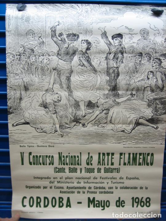 CARTEL FLAMENCO. II CERTAMEN NACIONAL DE ARTE FLAMENCO DE CORDOBA 1968 . M 52X70 CM (Coleccionismo - Carteles Gran Formato - Carteles Circo, Magia y Espectáculos)