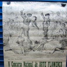 Carteles Espectáculos: CARTEL FLAMENCO. II CERTAMEN NACIONAL DE ARTE FLAMENCO DE CORDOBA 1968 . M 52X70 CM. Lote 218583210