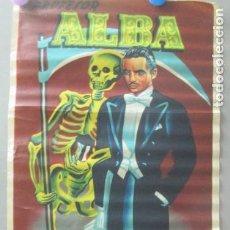 Carteles Espectáculos: CARTEL MAGIA PROFESOR ALBA TAMAÑO PEQUEÑO ORIGINAL AÑO 1959 CP9. Lote 219273913