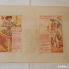 Affiches Spectacles: TEATRO CIRCO DE CARTAGENA, 1879, PROGRAMA ORIGINAL, CON PUBLICIDAD VINO AMOROS. Lote 219615392