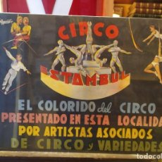 Affissi Spettacoli: CARTEL CIRCO ESTAMBUL. LITOGRAFÍA ORIGINAL ILUSTRADOR VALBUENA. 1955?. Lote 219839042