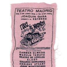 Carteles Espectáculos: CARTEL TEATRO MADRID 1948. JOAQUÍN GASA. ESTRENO TAXI A MADRID.. Lote 219893858