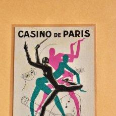 Carteles Espectáculos: MEDIDA POSTA - CASINO DE PARIS JOSEPHINE BAKER PAUL COLIN 1932. Lote 220952882