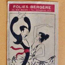 Affiches Spectacles: FOLLETO MANO-FOLIES BERGÈRE-UN VENT DE DOLIER-JOSÉPHINE BAKER. RANSON/FOWER TAMARA-VINCENT LOPEZ1927. Lote 221113918