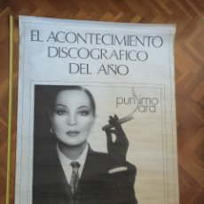 Carteles Espectáculos: POSTER GRAN FORMATO DE SARA MONTIEL PRESENTACIÓN DE PURISIMO SARA 1988. 140X95CM. Lote 221372836