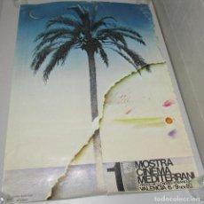 Affiches Spectacles: CARTEL, POSTER 1ª MOSTRA CINEMA MEDITERRANI, VALENCIA 1980, ORIGINAL. Lote 221506722