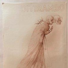 Affiches Spectacles: CARTEL DEL TEATRO ESTUDIO DITIRAMBO, MADRID 1973.. Lote 221617221
