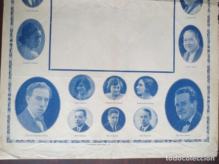 Carteles Espectáculos: Poster de la compañía del Teatre Talia de Barcelona años 10´s con imágenes de su elenco artístico - Foto 4 - 222069252