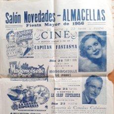 Carteles Espectáculos: 1956 CARTEL SALÓN NOVEDADES - ALMACELLAS, LERIDA. Lote 222105040
