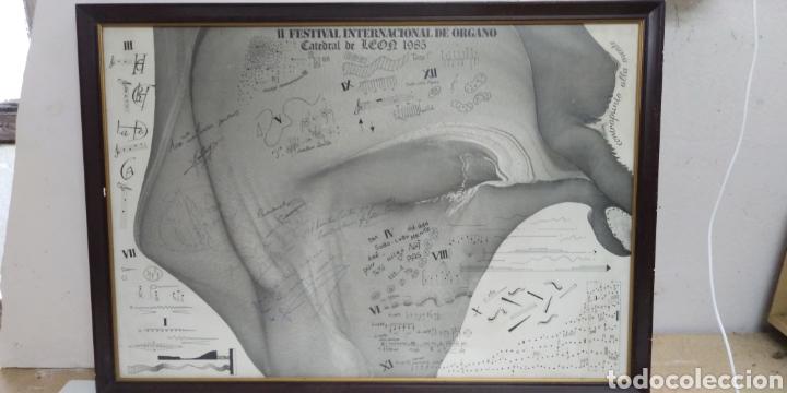 Carteles Espectáculos: Cartel original II FESTIVAL INTERNACIONAL DE ORGANO catedral de leon 1985 , dedicado y firmado - Foto 2 - 222246367