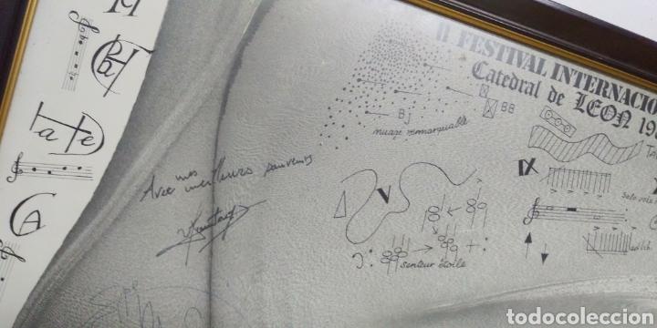 Carteles Espectáculos: Cartel original II FESTIVAL INTERNACIONAL DE ORGANO catedral de leon 1985 , dedicado y firmado - Foto 3 - 222246367