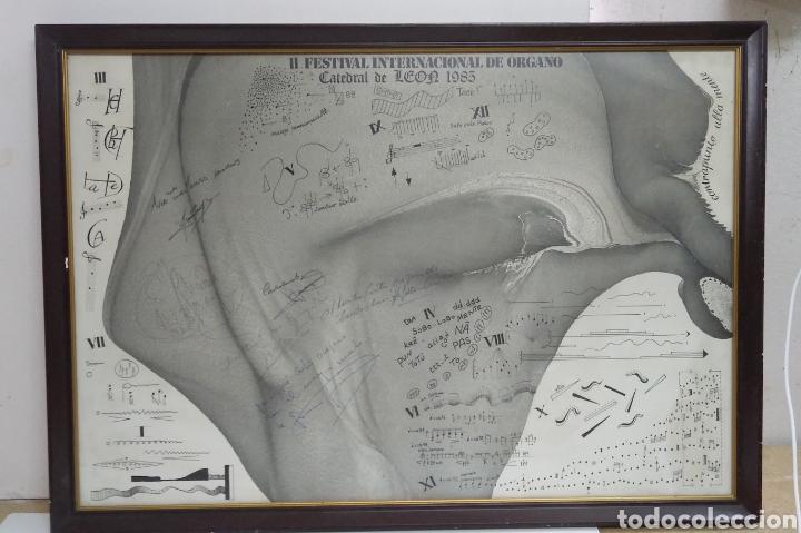 Carteles Espectáculos: Cartel original II FESTIVAL INTERNACIONAL DE ORGANO catedral de leon 1985 , dedicado y firmado - Foto 5 - 222246367