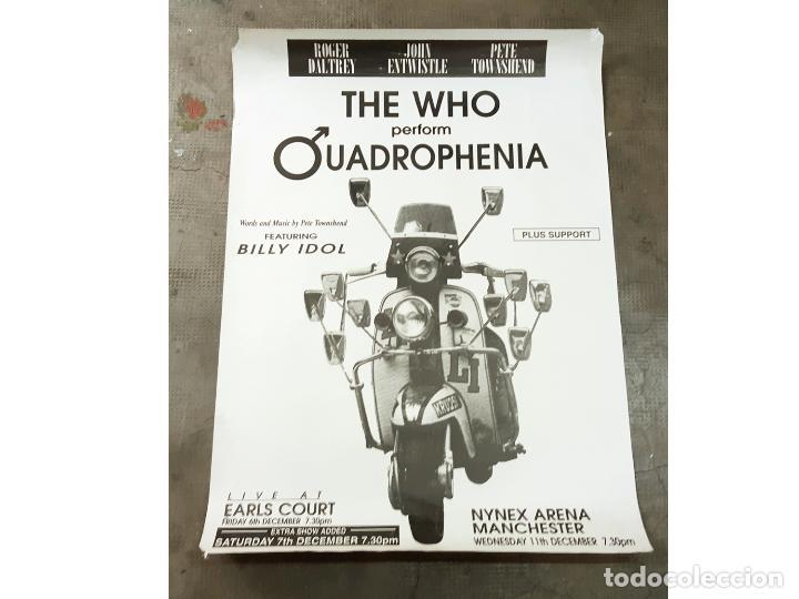 CARTEL ORIGINAL DEL CONCIERTO DE THE WHO PERFORM QUADROPHENIA LIVE AT EARLS COURT - 1996 (Coleccionismo - Carteles Gran Formato - Carteles Circo, Magia y Espectáculos)
